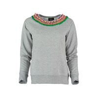 Lowie Crochet Neck Sweater In Grey
