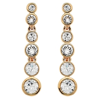 Cachet London Rose Gold Plated Swarovski Crystal Puzzle Drop Earrings
