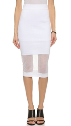 Mcq By Alexander Mcqueen Solid Sheer Skirt Optic White