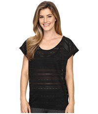 Lole Sybil Top Black Women's Short Sleeve Pullover