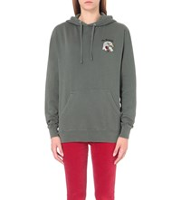 Obey Eagle Embroidered Jersey Hoody Dusty Spruce