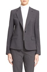 Women's Theory 'Gabe' Stretch Wool Blazer Charcoal