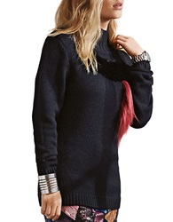 Sachin Babi Polos Wool Blend Sweater Black