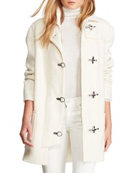 Polo Ralph Lauren Double Faced Wool Blend Coat White