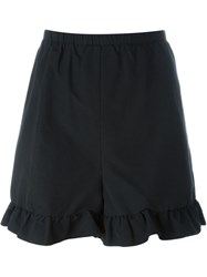 Red Valentino Ruffle Shorts Black
