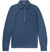 Massimo Alba Maimo Lim Fit Tretch Cotton Pique Polo Hirt Navy