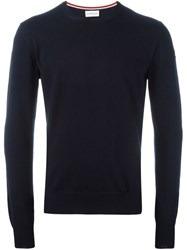 Moncler Classic Knit Sweater Blue