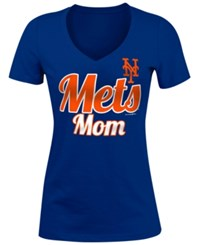 5Th And Ocean Women's New York Mets Mother T Shirt Royalblue