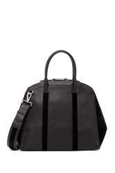 Mackage Leather Zip Suede Dome Satchel Black