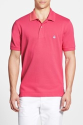 Brooks Brothers Slim Fit Solid Short Sleeve Pique Polo Pink