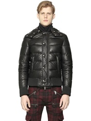 Diesel Black Gold Hooded Quilted Nappa Leather Jacket