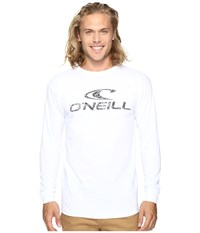 O'neill Supreme Long Sleeve Screens Impression T Shirt White Men's T Shirt
