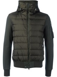 Moncler Padded Hoodie Green