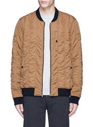 Alexander Wang Quilted Bomber Jacket Brown