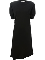 Vanessa Bruno Puff Sleeve Asymmetric Dress Black