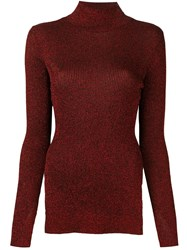 Cedric Charlier Slit Sides Pullover Red