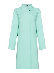 Cloud Nine Topstitch Raincoat Green
