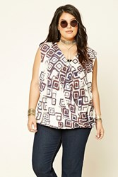 Forever 21 Draped Tribal Print Top