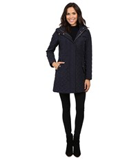 Cole Haan Signature Quilted Parka Dark Navy Women's Coat