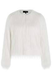 The Kooples Faux Fur Jacket White