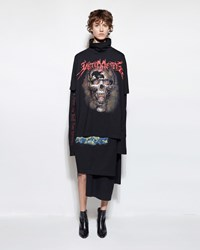 Vetements Layered T Shirt Dress Black Print