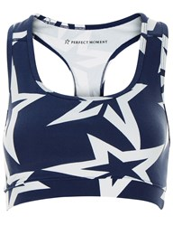 Perfect Moment Navy Jersey Starlight Crop Top