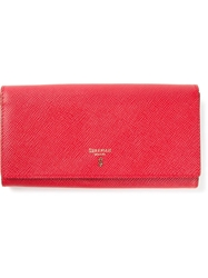 Serapian Fold Over Top Wallet Red