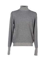 Zanone Knitwear Turtlenecks Men Grey