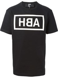 Hood By Air Logo Print T Shirt Black