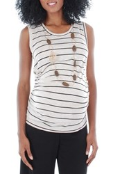 Women's Everly Grey 'Maggie' Maternity Tank Sand Stripe