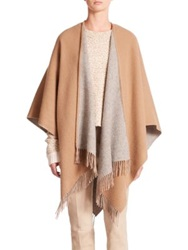 Rag And Bone Double Face Wool Poncho Camel Black