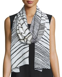Summer Safari Print Scarf Multi Black Caroline Rose