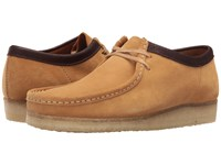 Clarks Wallabee Camel Suede Men's Lace Up Casual Shoes Tan
