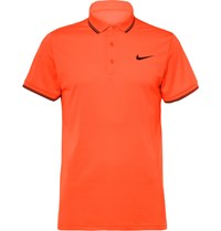 Nike Tennis Tenni Court Dri Fit Pique Polo Hirt Bright Orange