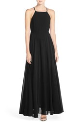 Lulus Women's Lulu's Square Neck Halter Gown Black