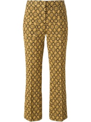 N 21 N.21 Baroque Floral Print Trousers Metallic