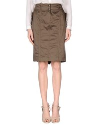 Clips More Skirts Knee Length Skirts Women Khaki