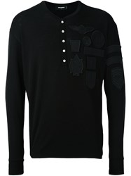 Dsquared2 Patch Detail Knitted Top Black
