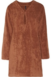 Lisa Marie Fernandez Keyhole Cotton Toweling Tunic Brown