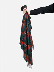 Aok Plaid Scarf Green Red Oak