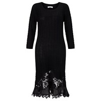 Supertrash Knitted Lace Dress Black