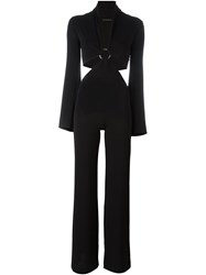 Plein Sud Jeans Plein Sud Cut Out Waist Jumpsuit Black