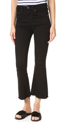 Rag And Bone Crop Flare Jeans Black Coal