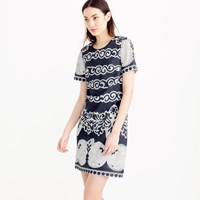 J.Crew Tall Short Sleeve Shift Dress In Ornate Lace