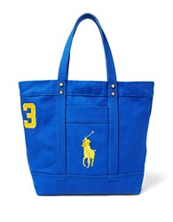 Polo Ralph Lauren Big Pony Canvas Tote Rugby Royal Blue