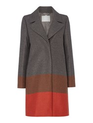 Hugo Boss Colora Colour Block Stripe Wide Coat Multi Coloured Multi Coloured