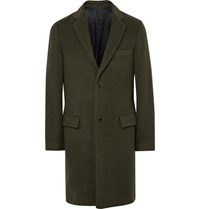 Tomorrowland Wool Blend Overcoat Army Green