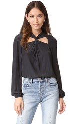 Ramy Brook Marina Blouse Black