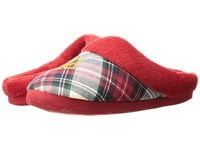 Lauren Ralph Lauren Holiday Plaid Slippers Plaid Ivory Blue Red Women's Slippers Multi