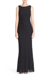 Alice Olivia Women's 'Sachi' Open Back Lace Maxi Dress Black